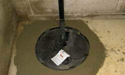 Sump Pump And Drain Tile Pipes Installation - Sump Pump Installation